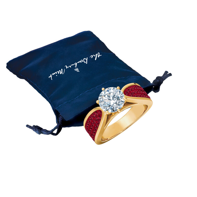 The Birthstone Fire Ring 2581 0011 m gift pouch