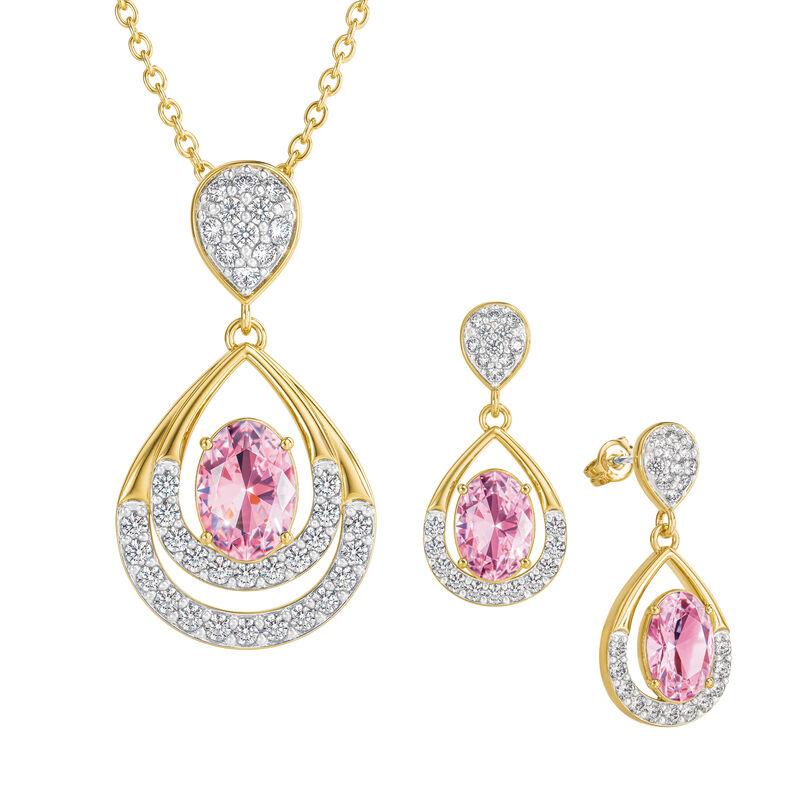Birthstone Necklace Earring Set 6930 0010 j october