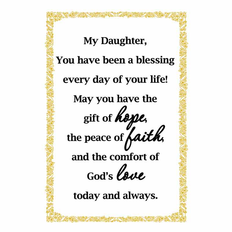 My Blessed Daughter Keepsake Bell Ornament 6331 001 5 2