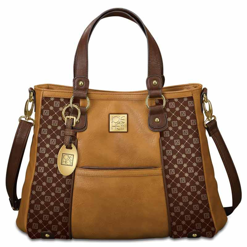 Personalized I Love You Handbag   Brown 5158 002 5 1