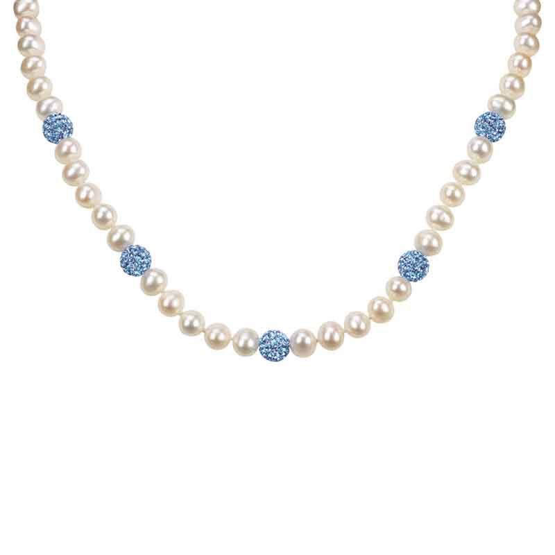 Bedazzled with Birthstones Pearl Necklace 5106 001 0 12