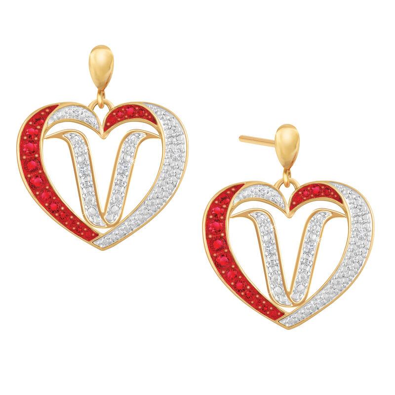 Diamond Initial Heart Earrings 2300 0094 v initial