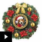 Happy Howlidays Personalized Lighted Christmas Wreath, , video-thumb