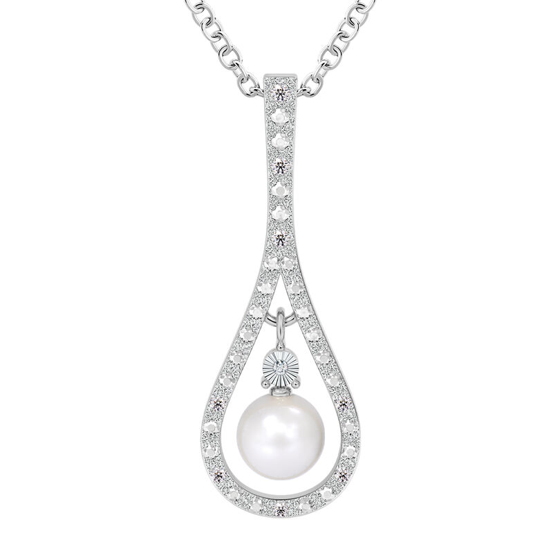 Drop of Luxury Pearl Diamond Necklace 10141 0017 a main