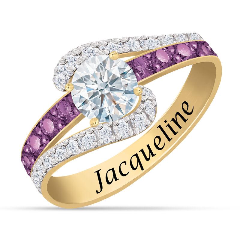 Personalized Birthstone Splendor Ring 10385 0012 b february