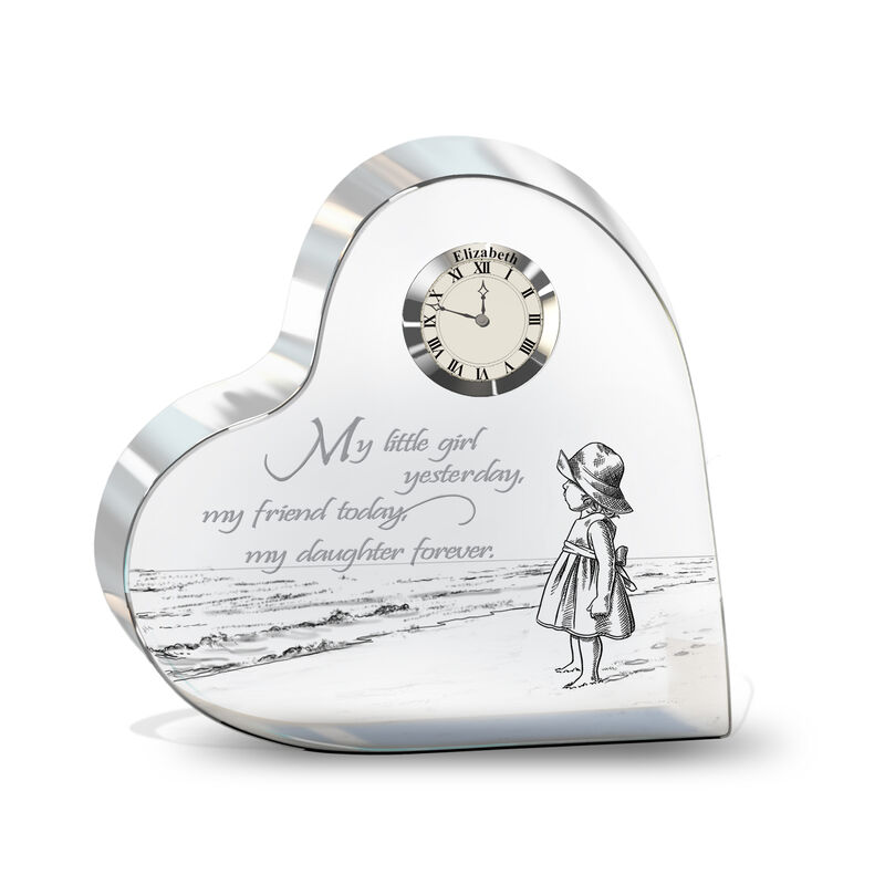 My Daughter Forever Personalized Crystal Desk Clock 4257 0085 a main