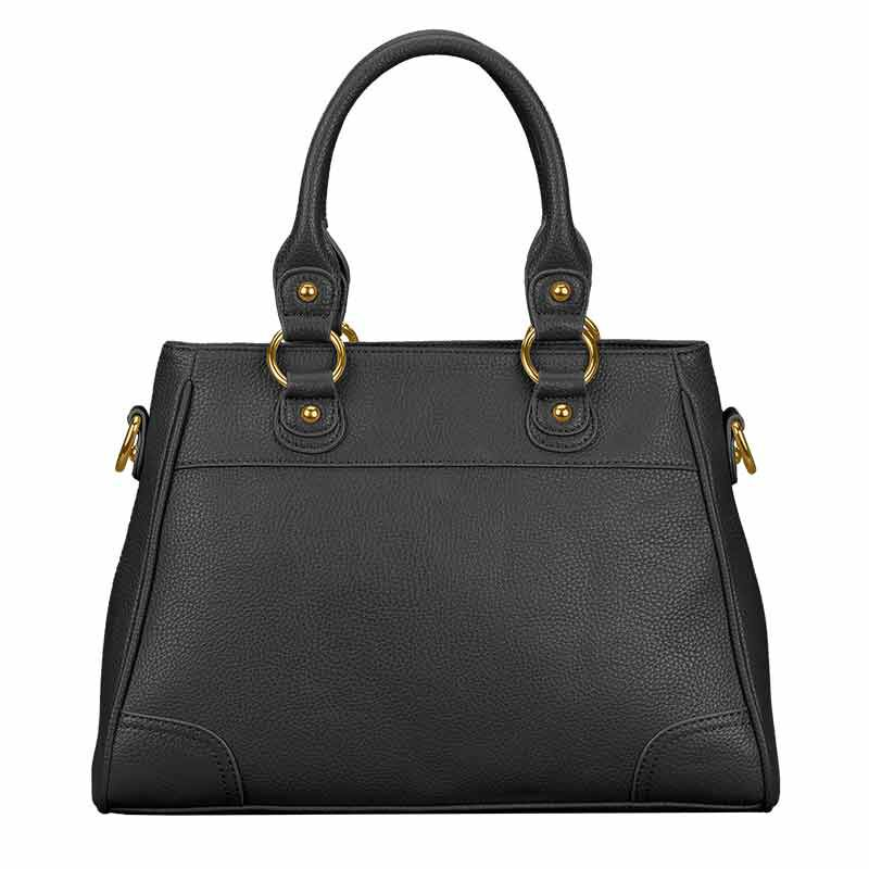 Personalized Initial Black Handbag 5878 001 6 5