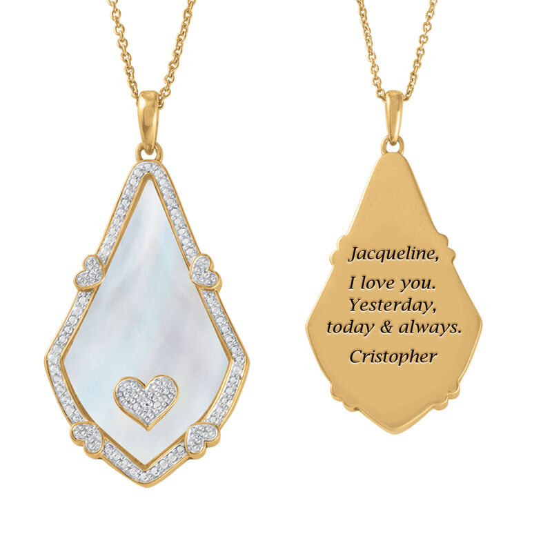 Yesterday Today Always Personalized Teardrop Pendant 6895 0013 a main