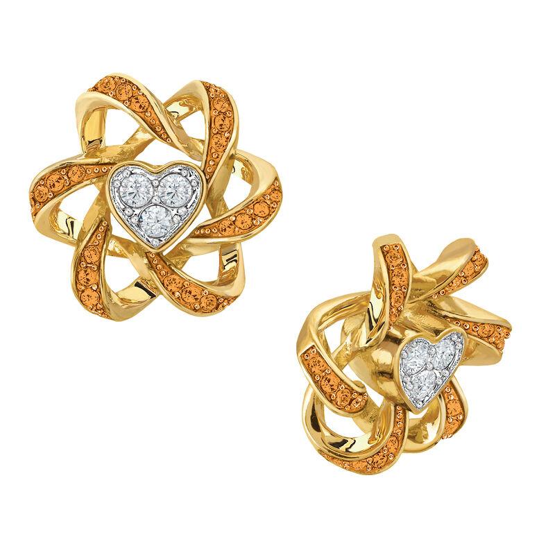 Birthstone Beauty Heart Earrings 2627 0066 k november