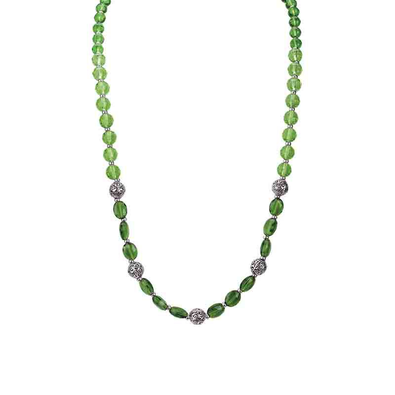 Four Seasons Crystal Necklace Set 1754 001 4 4