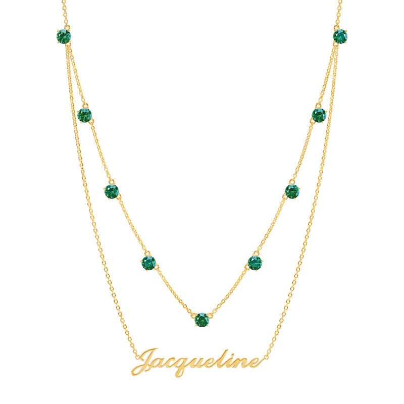 The Birthstone Layered Necklace 6788 001 3 5