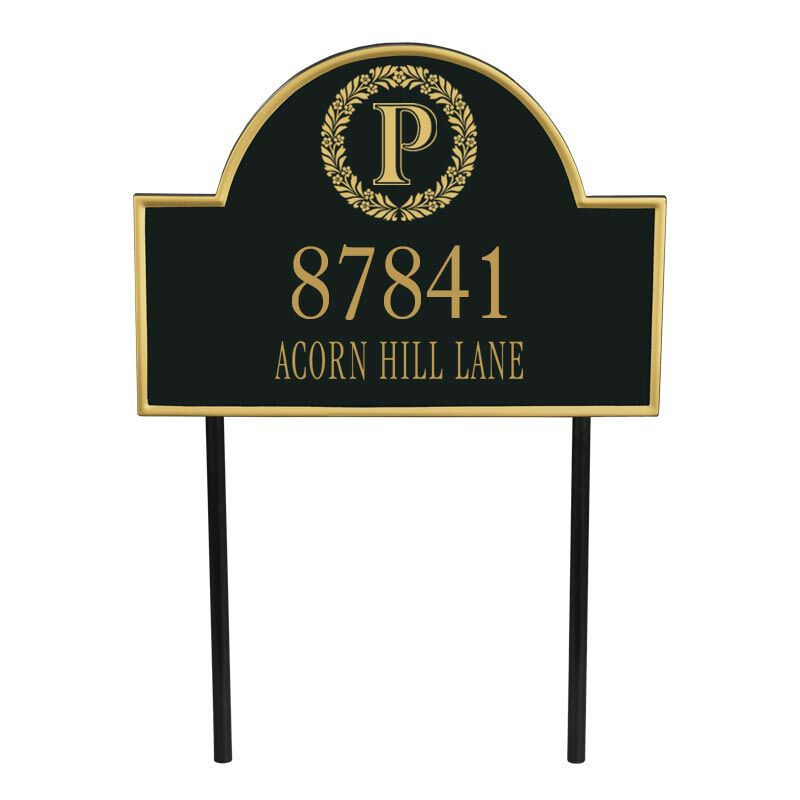 The Monogrammed Address Plaque 5719 001 9 1