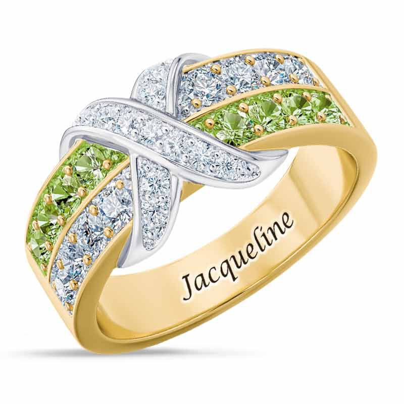 Birthstone Beauty Diamond Kiss Ring 6503 001 7 8