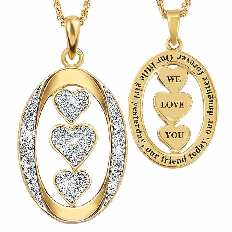 Our Daughter We Love You Diamond Pendant 2965 007 4 1