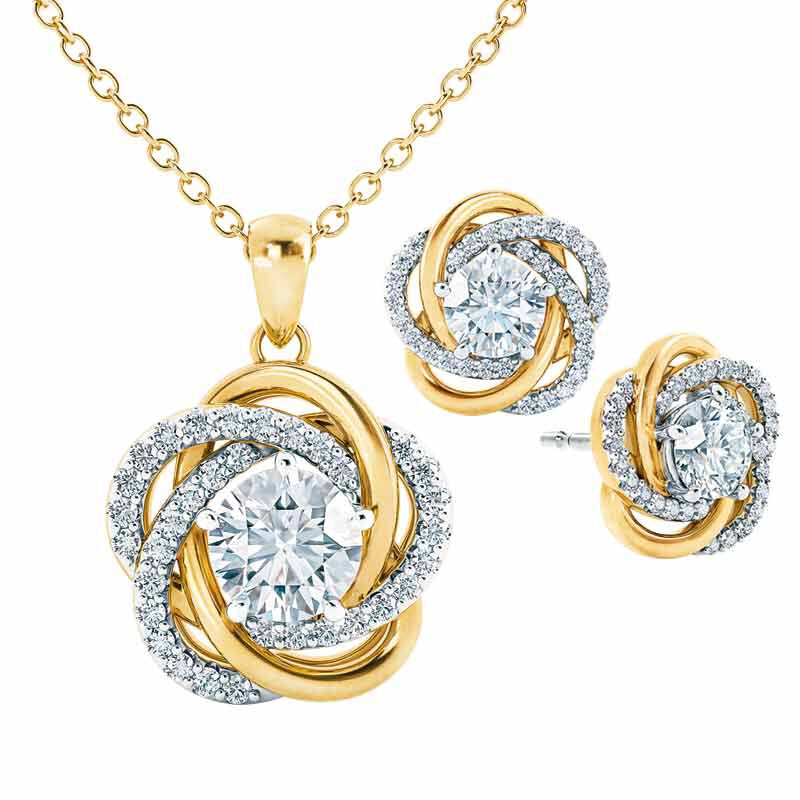 Perfectly Paired Love Knot Pendant with FREE Matching Earrings 4922 001 5 1
