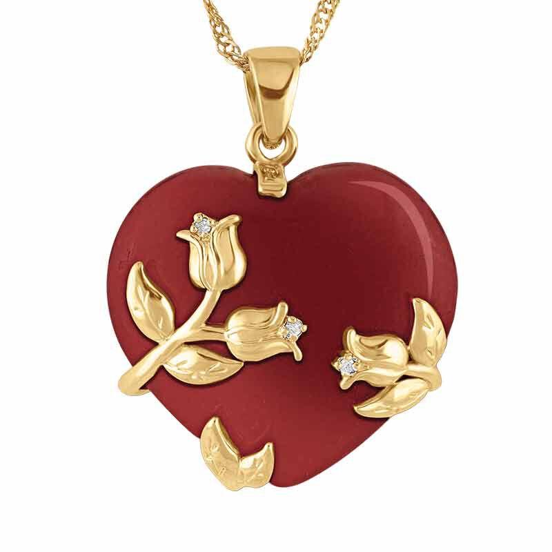 Love Everlasting Jade and Diamond Heart Pendant 6028 001 3 1