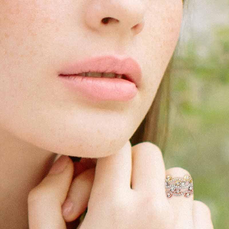 Leaves of Luxury Eternity Ring Set 6143 001 3 4