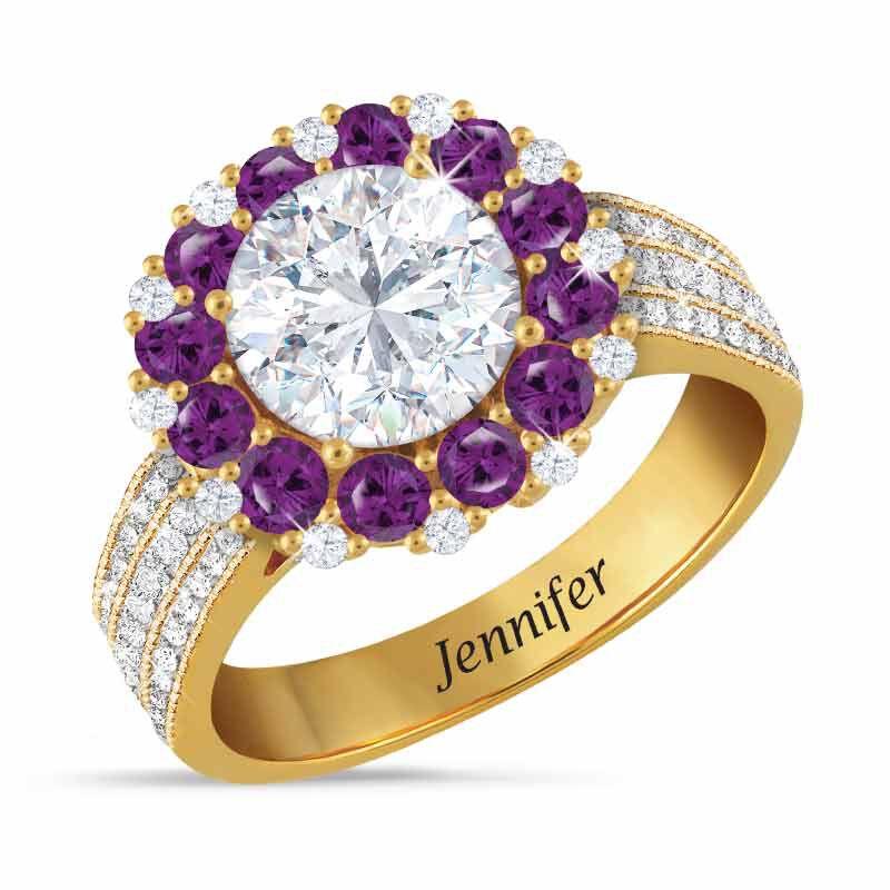 Birthstone Beauty Diamonisse Halo Ring 4924 001 3 2