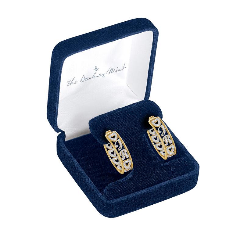 Personalized Diamond Hoop Earrings 10059 0017 g gift display