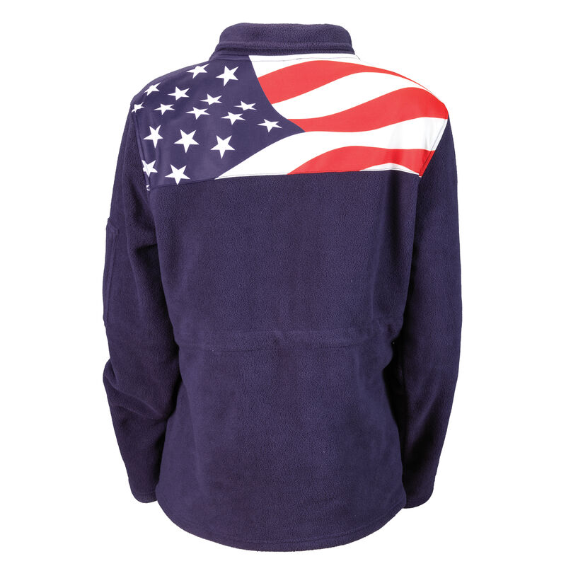 Stars Stripes Forever Personalized Fleece Jacket 10164 0019 b back