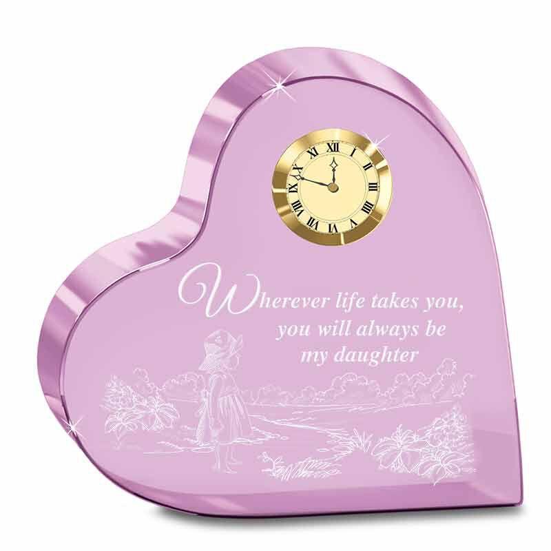 Always My Daughter Crystal Desk Clock 6082 001 6 1