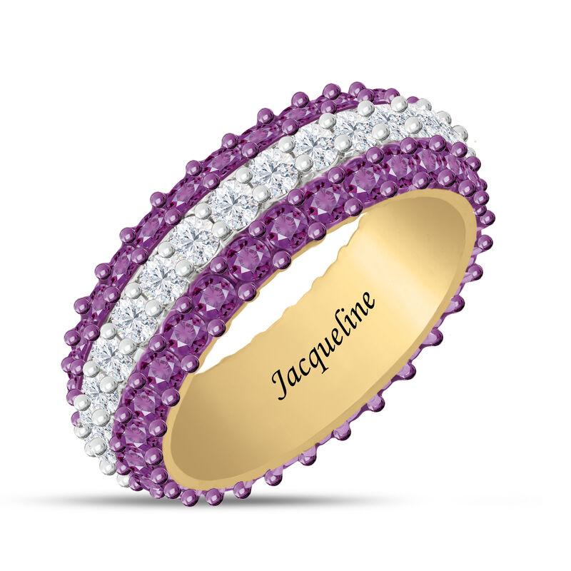 Birthstone Beauty Eternity Ring 6911 0013 b february