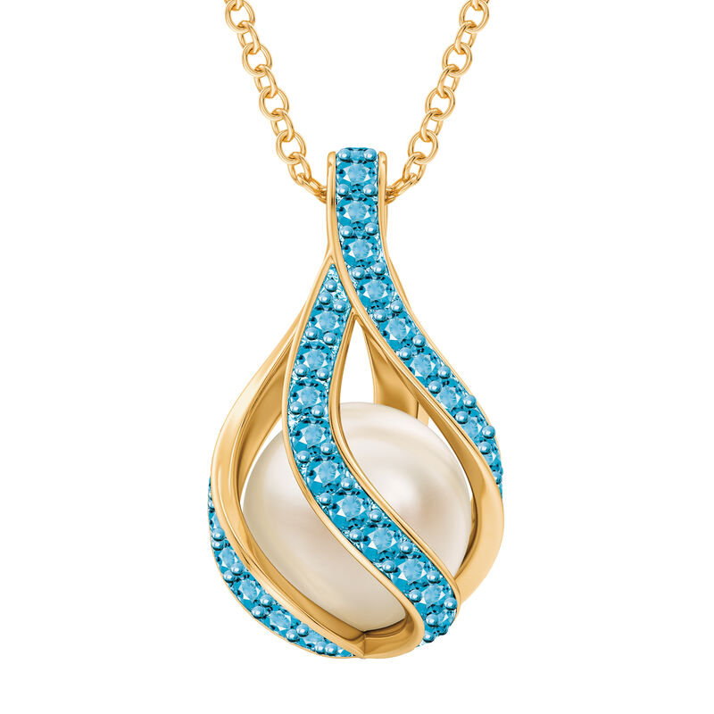 Loves Embrace Pearl Birthstone Necklace 10144 0014 c march
