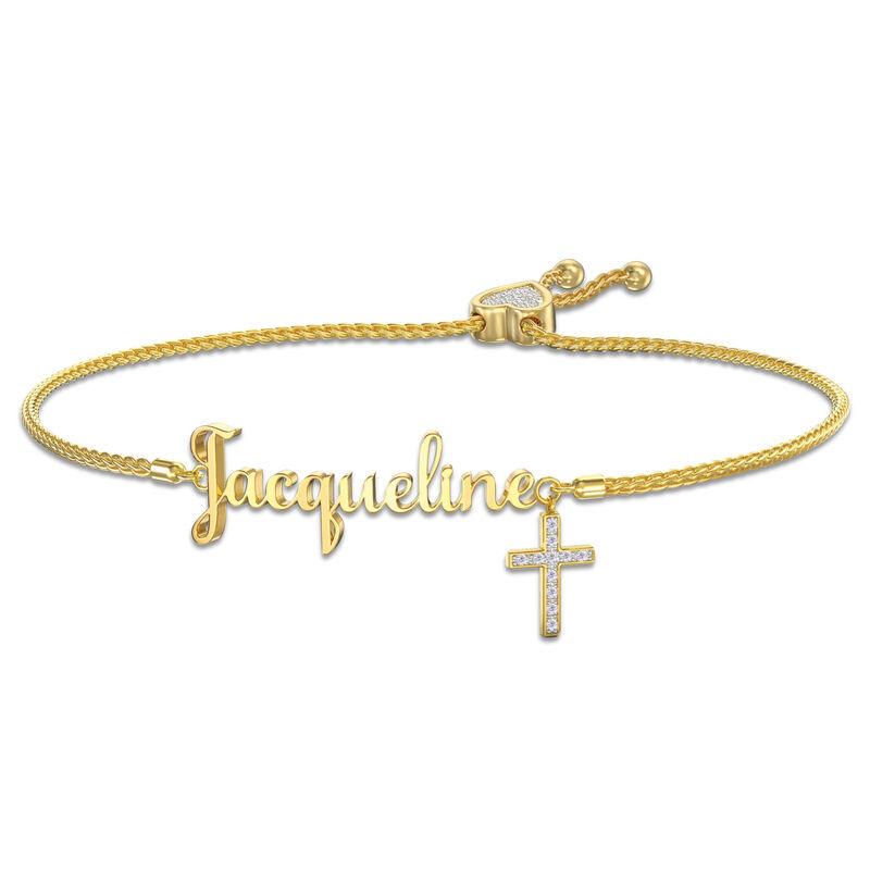 Personalized Bolo Cross Bracelet 6513 002 3 1