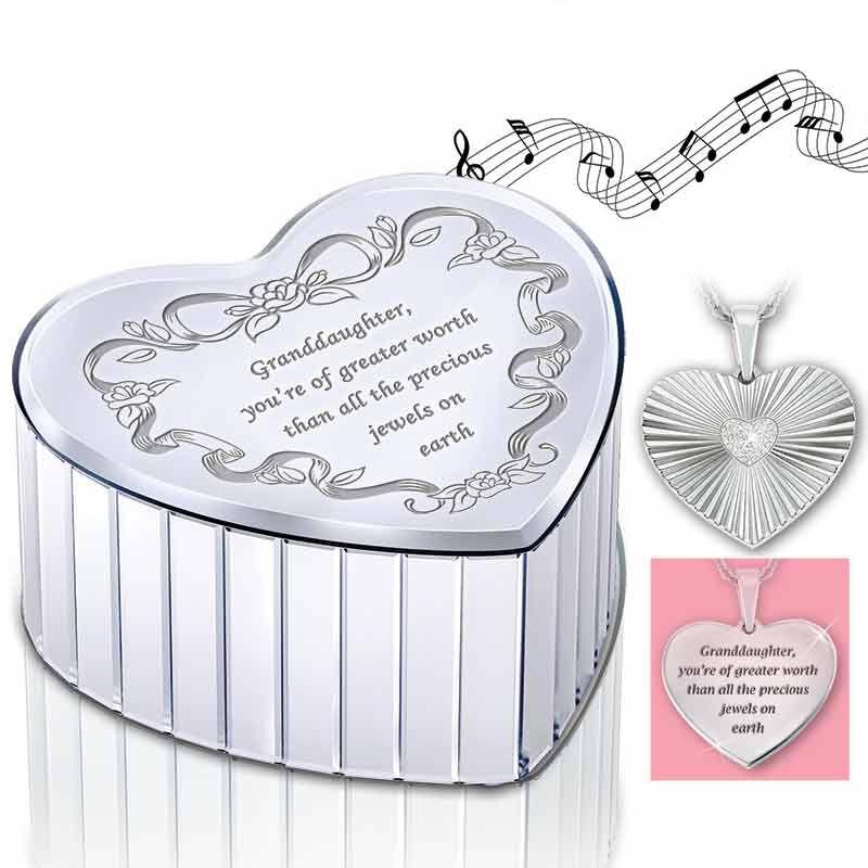 Granddaughter Music Box  Diamond Pendant 5703 001 7 1