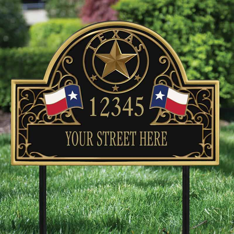 The Texas Personalized Address Plaque 1073 001 8 2