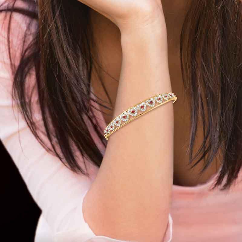 I Love You Ruby  Diamond Bangle 5291 001 5 5