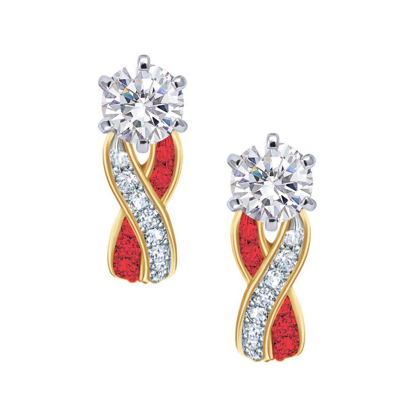 Birthstone Swirl Earrings 6243 0038 g july
