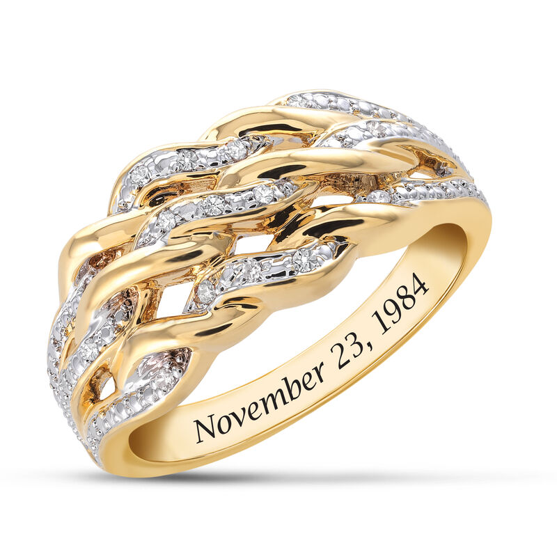 Personalized Diamond Anniversary Ring 6500 0036 a main