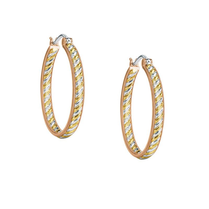Copper Trinity Inside Out Hoop Earrings 6744 0016 a main