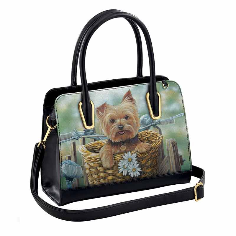 Yorkie Hitching a Ride Handbag 5970 002 1 1