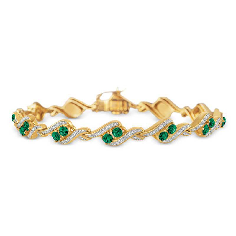 Birthstone  Diamond Bracelet 6321 001 7 5