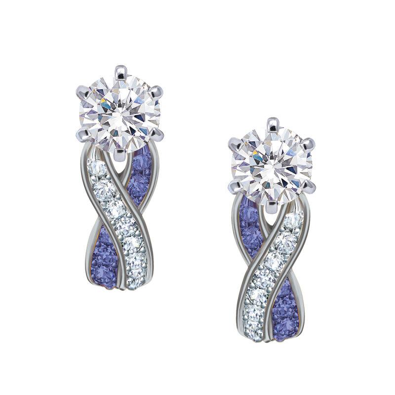 Birthstone Swirl Earrings 10115 0027 b february