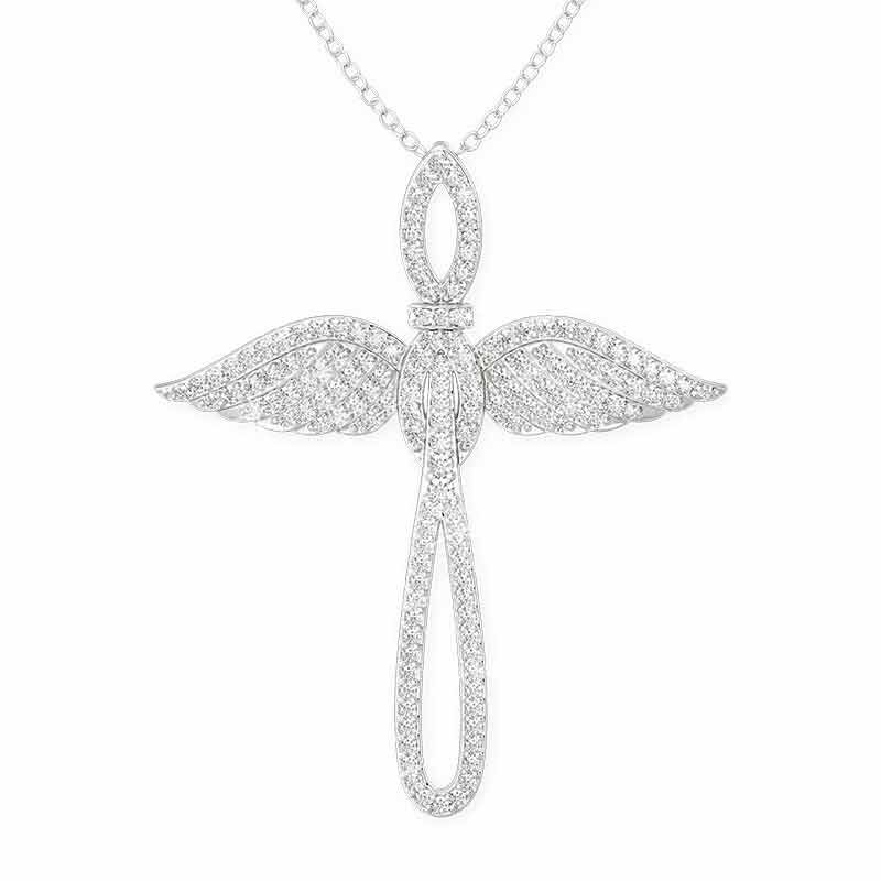 Touched by an Angel Cross Pendant 2673 001 0 1