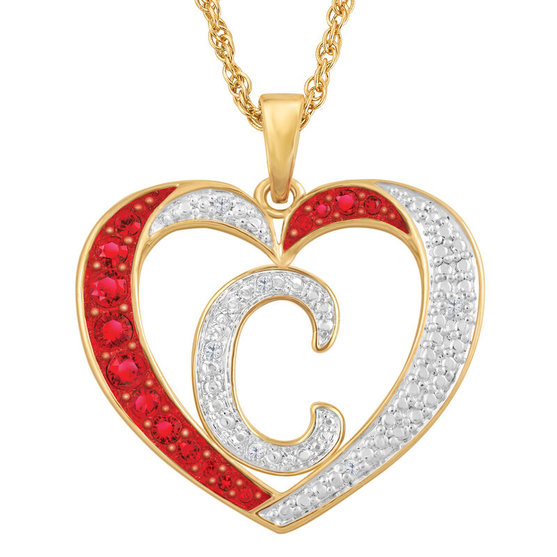 Personalized Diamond Initial Heart Pendant with FREE Poem Card 2300 0060 c initial