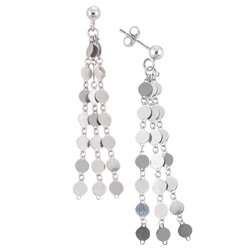 Stunning in Sterling Silver Pendant and Earring Set 6491 001 1 3