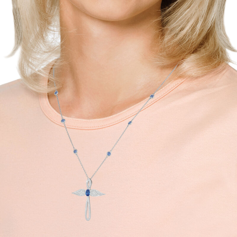 Touched by an Angel Birthstone Necklace 6842 0017 m model