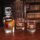 The Personalized New York Yankees Decanter Set 10128 0014 c library