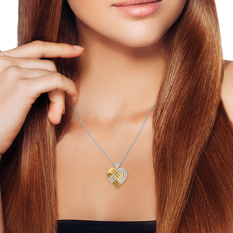 Woven Together Anniversary Heart Pendant 10134 0032 m model