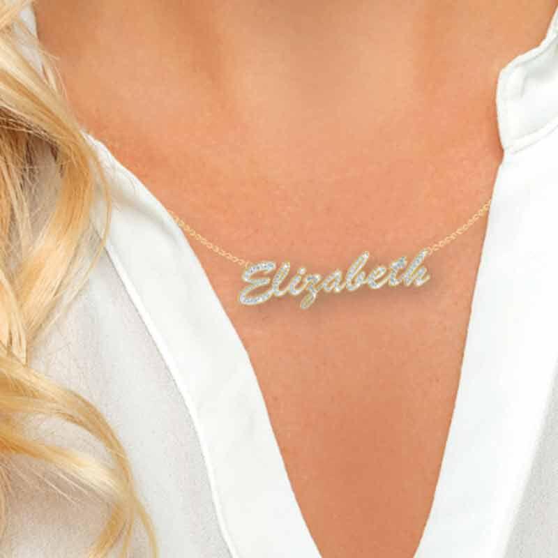 Personalized Swarovski Crystal Necklace 6573 001 2 3