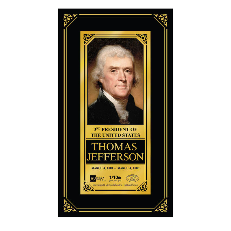 The U.S.Presidents 24kt Gold Note Collection 6662 0022 b thomas jefferson