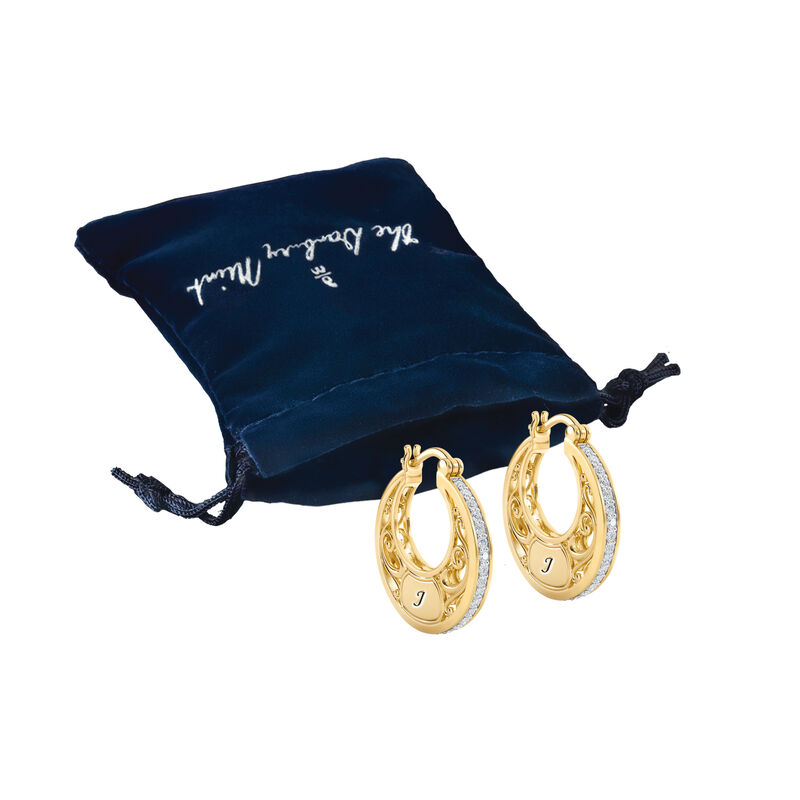 The Personalized Golden Hoops 6110 0020 g gift pouch