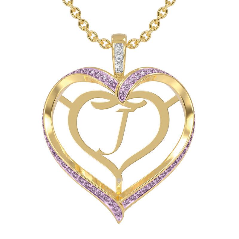 Personalized Birthstone Diamond Pendant 10138 0012 f june
