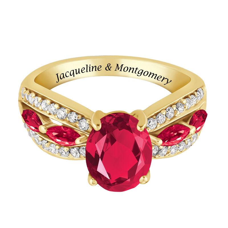Ruby Red Ravishing Personalized Ring 10103 0013 b flat
