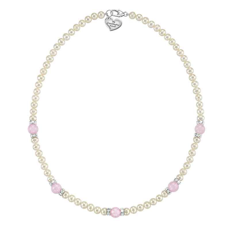 For My Granddaughter With Love Pearl Necklace 1538 001 7 1