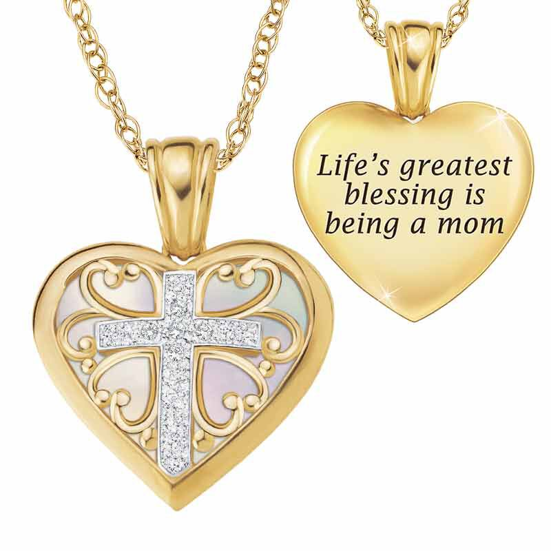 Blessed to be a Mom Diamond Pendant 1678 001 7 1